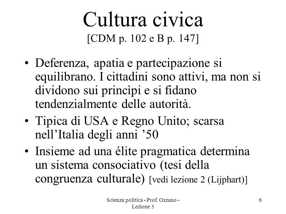 Cultura civica [CDM p. 102 e B p. 147]